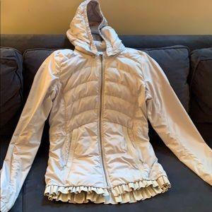 Barely worn size 6 lulu lemon lightgrey light coat